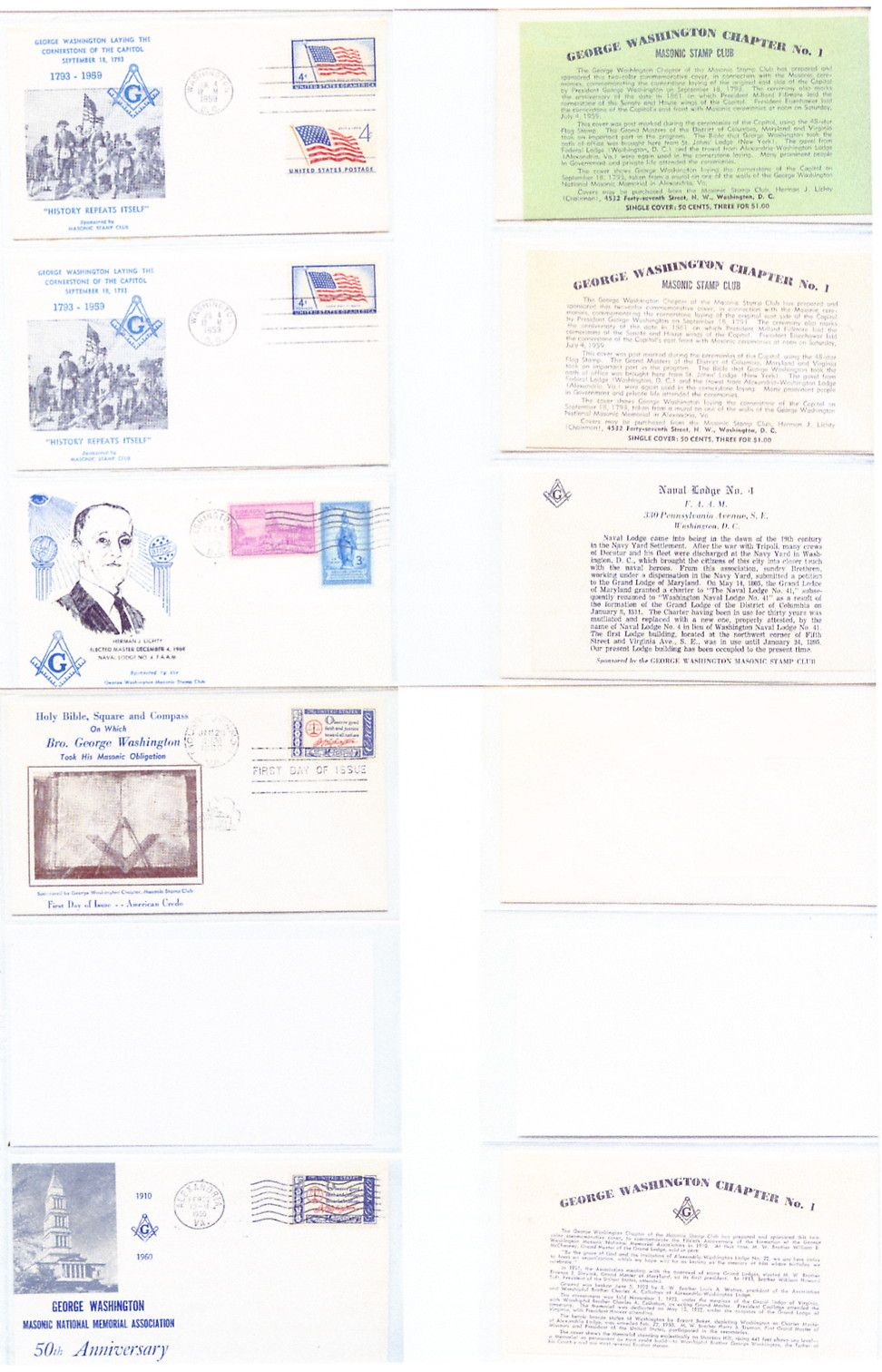 1959 GWMSC Covers